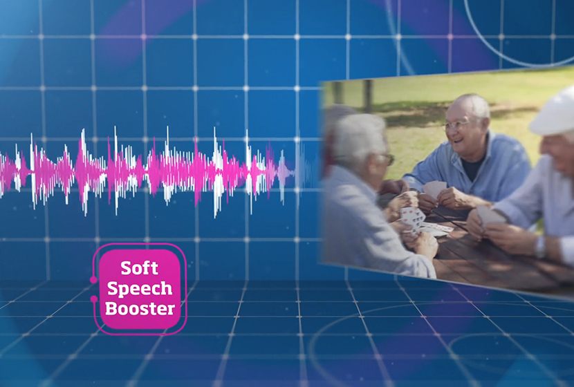 onde sonore et soft speech booster technologie oticon